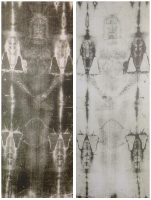 Front of the Shroud of Turin