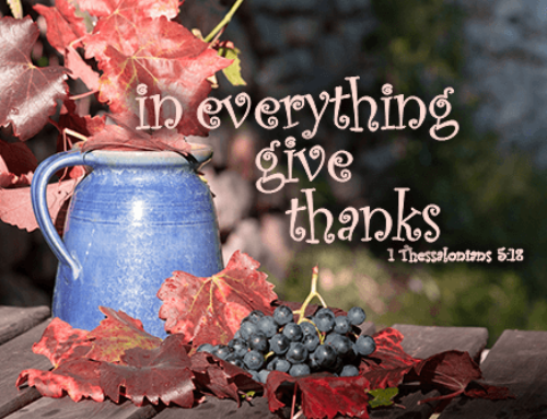 Being Thankful in Adversity